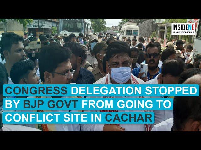 Congress delegation stopped by BJP govt from going to conflict site in Cachar