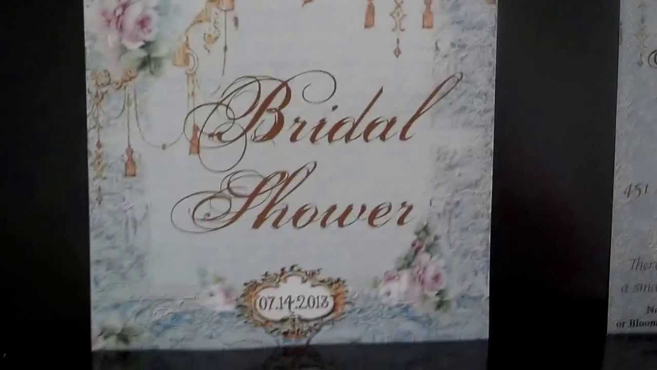 Bridal Shower Invitations Review For Zazzle Com Youtube