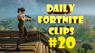 Daily Fortnite Сlips #20 / Ninja's freestyle / DrLupo 258m and 264m snipe!