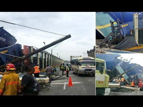 Nuevo barco de Ferries del Caribe chocó con el puerto de Santo Domingo