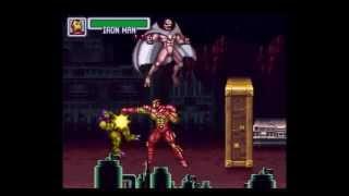 Marvel Super Heroes - War of Gem - ARIZONA MINING COMPLEX Stage (SNES)