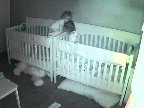 twin toddlers climb into each other 39 s crib and nearly escape youtube. Black Bedroom Furniture Sets. Home Design Ideas