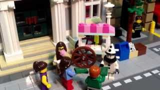 """""""The Stand off"""" Lego Hotdog stand vs ice cream stand. Stop-motion feature."""