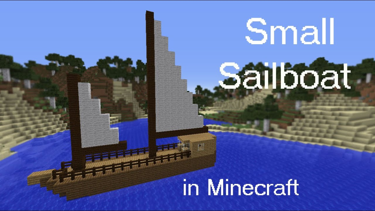 How to build a small sailboat in Minecraft - YouTube