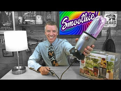 Making A TROPICAL Fruit SMOOTHIE! : Magic Bullet Blender REVIEW