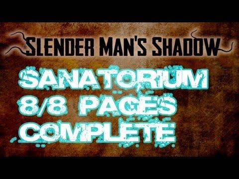 Slender Man's Shadow - Sanatorium 8/8 Pages Complete