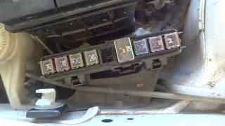 Замена предохранителя MAIN 80a на Mazda Demio