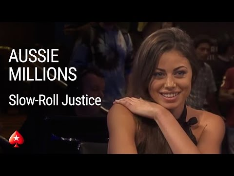 Slow-roll Justice at the 2016 Aussie Millions Main Event | PokerStars