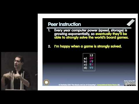 UC Berkeley CS10 Fall 2010 Lecture 22, Computational Game Theory (1080p HD)