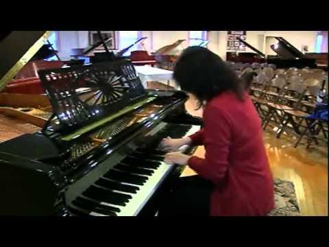 Ang Li, pianist, and Cunningham Piano Company