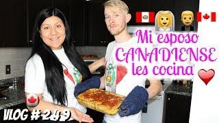 🇵🇪👰🏽🤵🏼 🇨🇦 Mi esposo Canadiense les comparte una receta / PERUANA EN CANADA