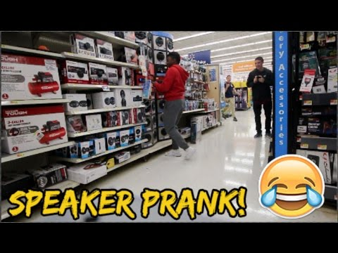 INTENSE WALMART SPEAKER PRANK! ( KICKED OUT)