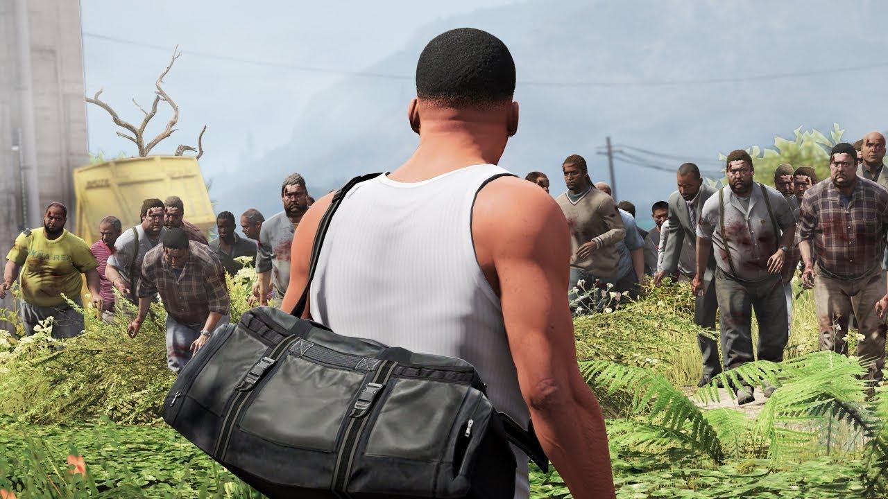 GTA 5 - The BIGGEST Zombie Outbreak EVER!! (Zombie Apocalypse)