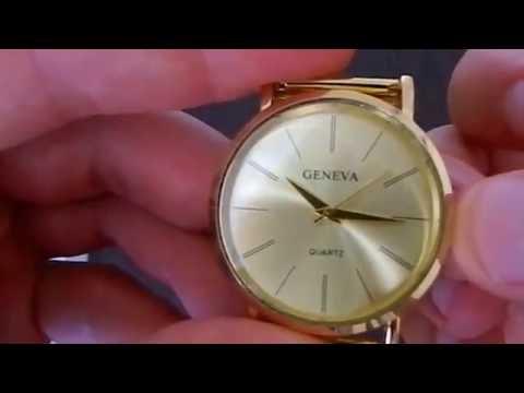 GENEVA 002 Business Style Male Quartz Watch  -  GOLDEN