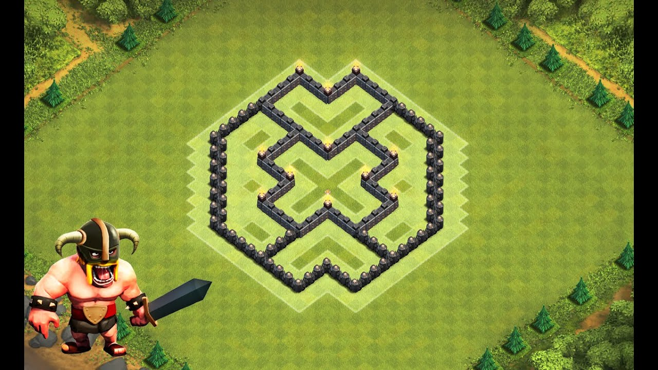Clash of clans melhor layout de farm para centro de vila 6 town