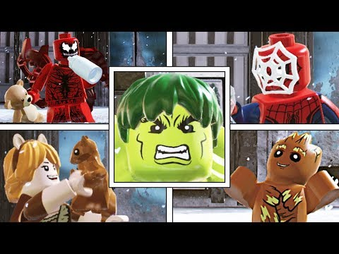 LEGO Marvel Super Heroes 2: BESTFUNNIESTUNIQUE IDLE ANIMATIONS!
