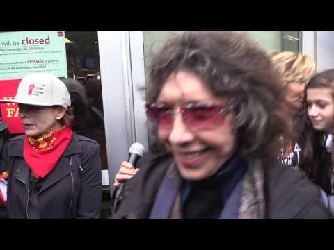 BankExit Action (No DAPL) with Jane Fonda at Wells Fargo - Los Angeles, CA (12/21/2016) - PT 1