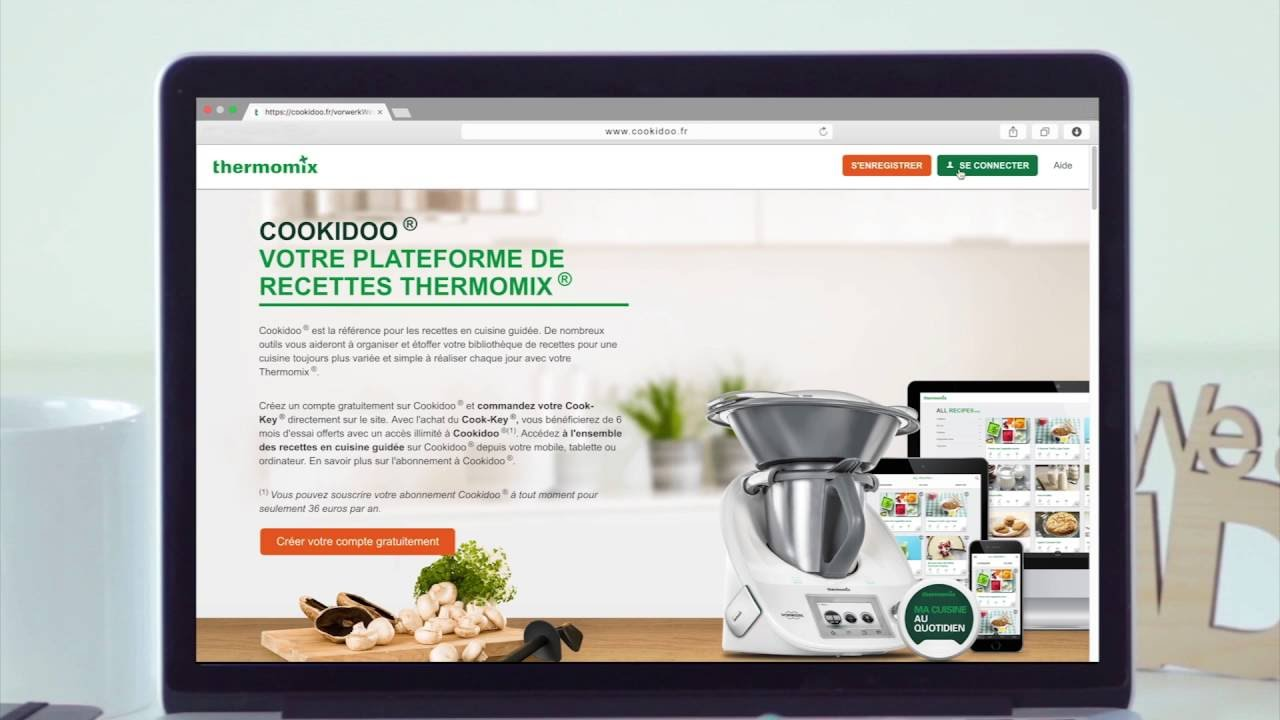 free comment activer mon cookkey thermomix france with la cuisine au quotidien thermomix. Black Bedroom Furniture Sets. Home Design Ideas