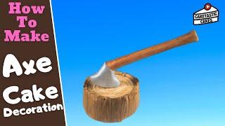 Comment Faire une HACHE dans un tronc Décoration de Gâteau Tutoriel par Caketastic Gâteaux