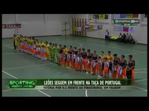 Futsal :: U. Pinheirense - 2 x Sporting - 4 de 2014/2015 1/16 Final Taça de Portugal