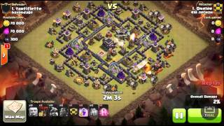 No heroes? How to 3 star a maxed TH9(def) Clash of Clans Laloon attack.