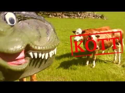 TYRANNOSAURUS REX - musikvideo för barn (Dinosaurielåtar, Pappa Kapsyl - Dinosaurier)