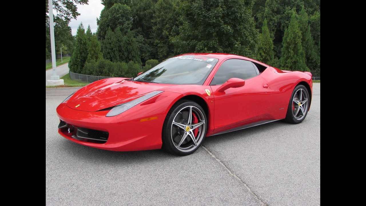 2014 Ferrari 458 Italia Spider Start Up Test Drive And