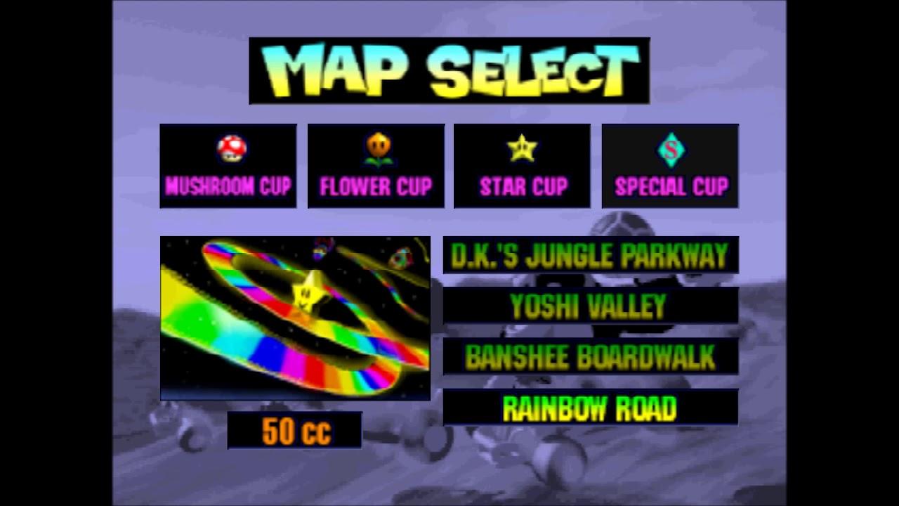 Mario Kart 64 Rainbow Road Melody Removed Youtube