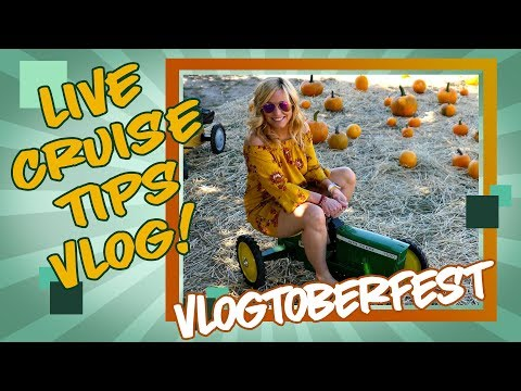 Live Weekly Cruise Tips Vlog - Vlogtoberfest!