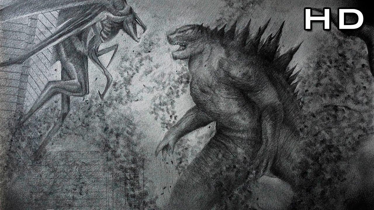 Godzilla vs muto speed drawing