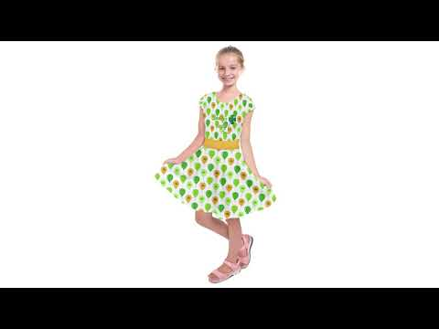St Patrick Day Short Sleeve Dress
