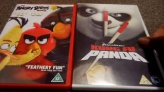 The Angry Birds Movie And Kung Fu Panda Uk Dvd Unboxing By