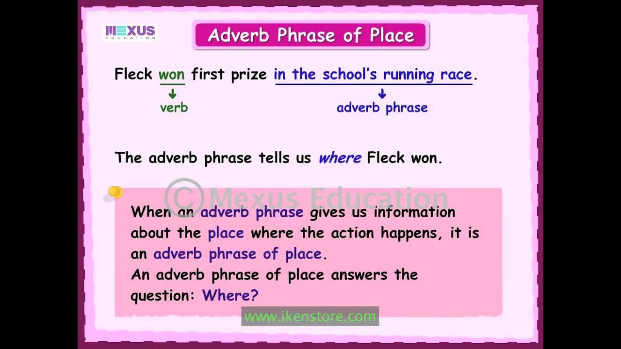 Adverb Phrases Youtube