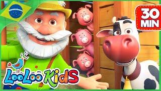 Seu MacDonald Tinha uma Fazenda - Músicas para crianças | LooLoo Kids Português