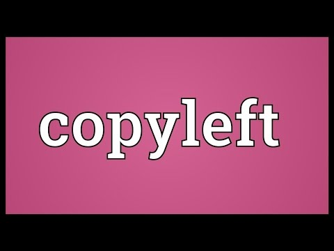 Copyleft Meaning