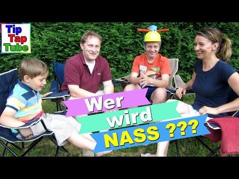 Wet Head Challenge Deutsch Wasser Roulette lustiges Outdoor Spiel TipTapTube Kinderkanal
