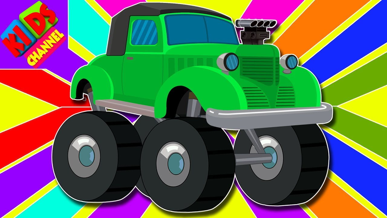 Learn Colors With Vintage Monster Trucks Color Vehicles