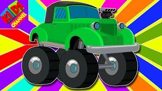 Learn Colors With Vintage Monster Trucks | color Vehicles Video For Kids | cartoon about cars