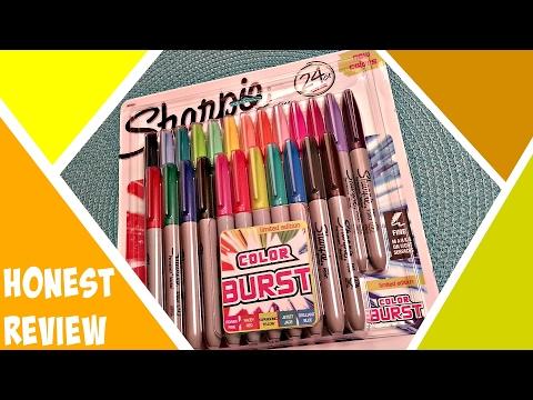 Honest Review | Unboxing Sharpie Color Burst Fine Point Permanent Markers