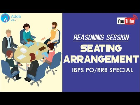 New Pattern: Seating Arrangement Questions Based On IBPS PO/RRB Pattern