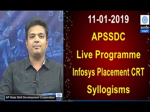 APSSDC |  Infosys Placement CRT  | Syllogisms | Session - 1 | Mana Tv