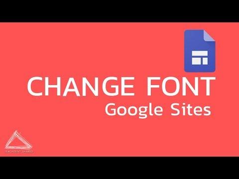เปลี่ยนฟอนต์ Google sites ง่าย ๆ ด้วยตัวเอง