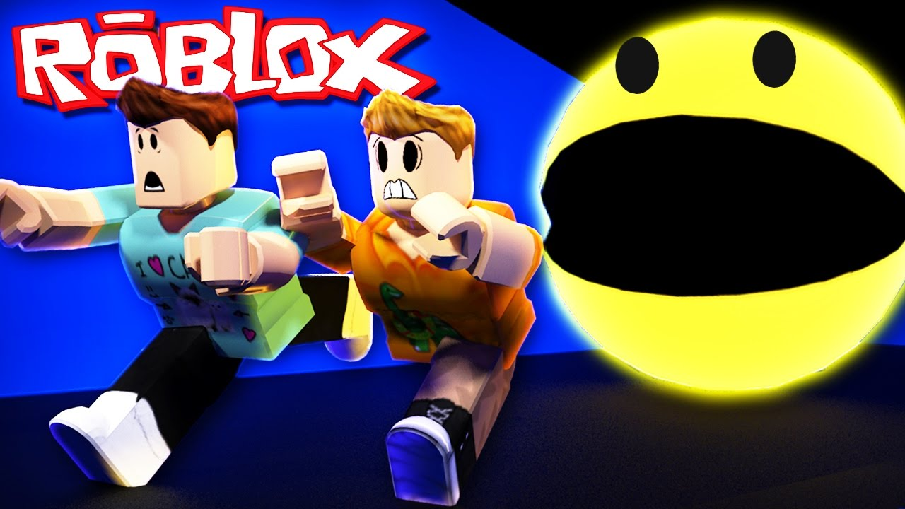 Roblox Adventures Escape A Giant Killer Pacman Pacblox - pac man roblox game