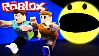 Roblox Adventures - ESCAPE A GIANT KILLER PACMAN! (PacBlox)