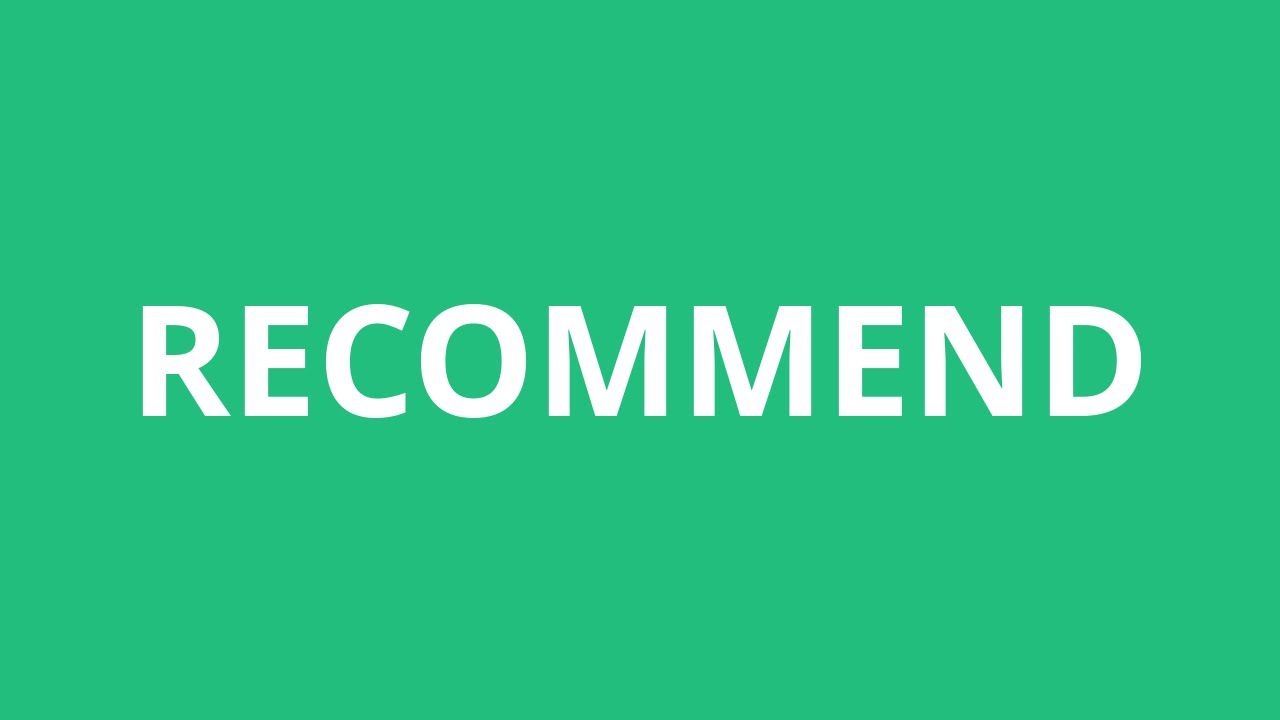 How To Pronounce Recommend - Pronunciation Academy