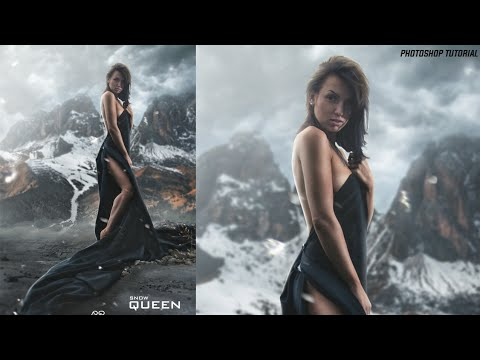 Photoshop Tutorial - Snow Queen | Photo Manipulation tutorial | (with Free Project file )