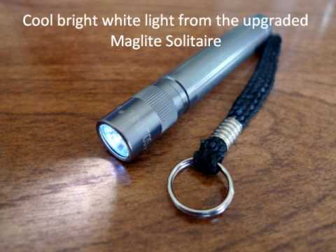 a nice maglite solitaire led upgrade youtube. Black Bedroom Furniture Sets. Home Design Ideas