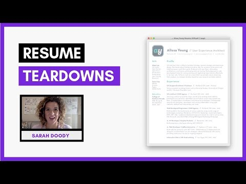 Resume Review & Tips For Resume Design And Layout | Sarah Doody, UX Designer