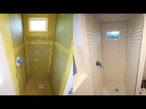 Tiny House Shower Tile REAL NICE YouTube