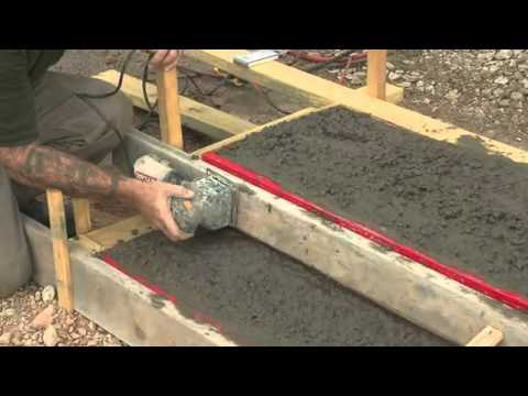 Concrete step form liners pouring concrete steps youtube for What temperature to pour concrete outside